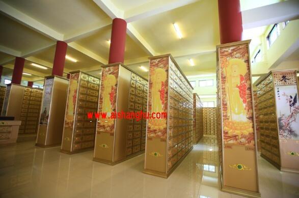 佛堂寺院骨灰盒存放架设计装修案例图江西凌鼎