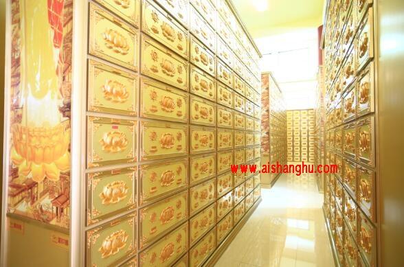 寺庙祠堂高分子福寿架纳龛柜案例装修设计图江西国福