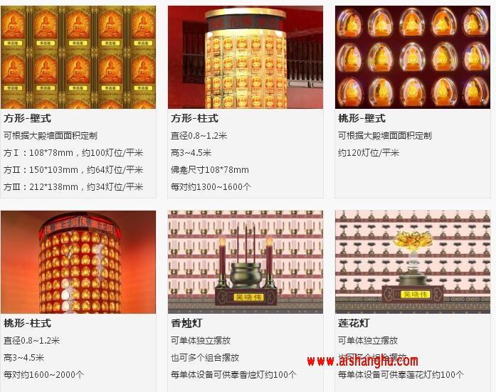 佛教寺庙LEDGW智能光明灯祈福灯系统四川长城