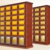寺院祠堂地宫智能骨灰存放架箱体照片江西国计纳米