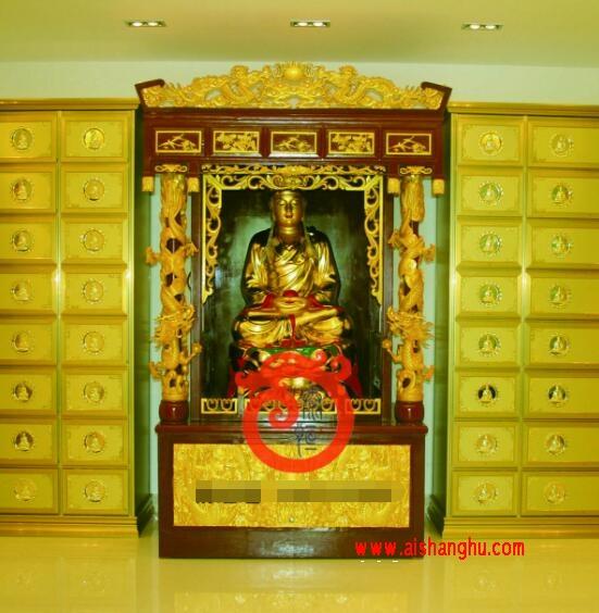 寺院佛教佛龛实体照片江西泰恒