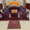 殡仪服务公司LHM-4型红木豪华遗体告别台瞻仰台图山东玲华
