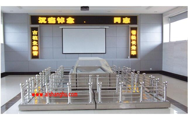 LHM-5型不锈钢双层围栏遗体告别台瞻仰台图山东玲华