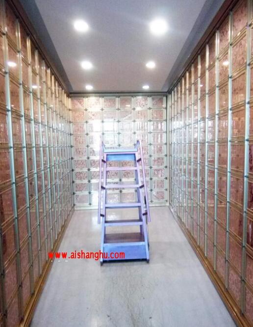 祠堂骨灰盒存放架装修设计图山东玲华