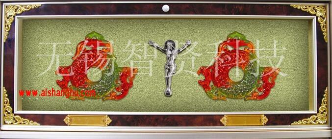 海会塔豪华型双穴骨灰盒架H-5型设计面板无锡智贤