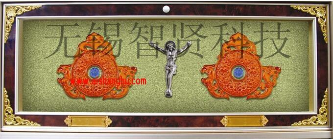 纳骨堂豪华型双穴骨灰盒寄存柜H-7型设计面板无锡智贤