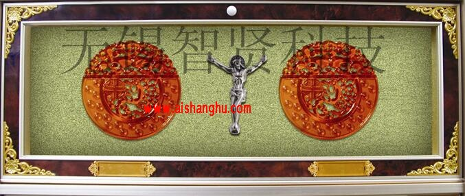 怀念堂豪华型双穴骨灰寄存架H-8型设计面板无锡智贤