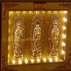 寺院佛教单穴骨灰盒存放架面板实物照片图江西荫福