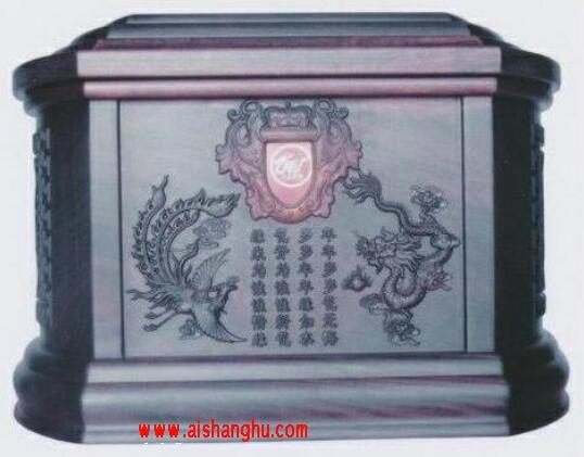 实木骨灰盒木质高清照片殡葬用品浙江东申工艺品