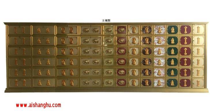 寺庙佛堂电泳合金骨灰盒存放架专利图山东汇尔丰