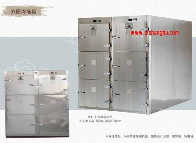 进口不锈钢HL-6六屉冷冻太平柜高密寰海