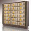 荷风禅院(单双穴骨灰存放架面板)ABS阻燃材料镶嵌真琉璃仙廷