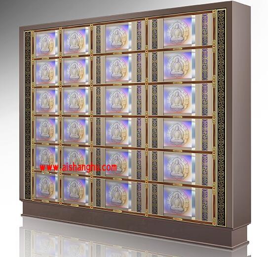 水晶面板A型(单双穴骨灰盒存放架面板)铝合金压铸材料镇嵌水品江西仙廷