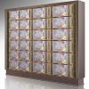 水晶面板A型(单双穴骨灰盒存放架面板)铝合金压铸材料镇嵌水品
