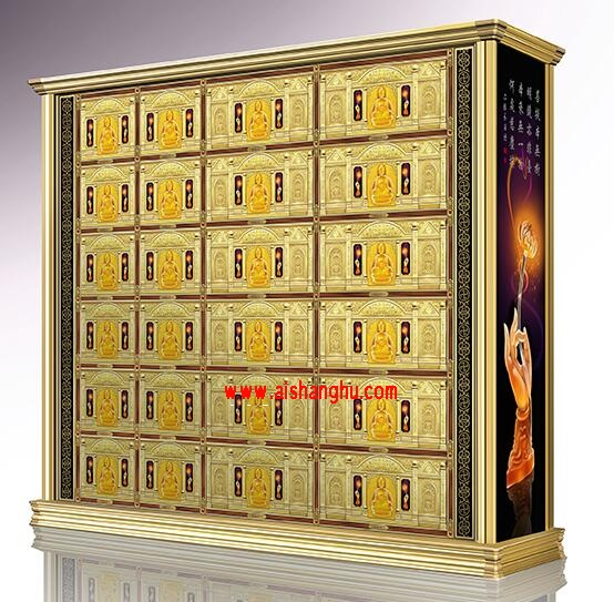 德福堂(单双穴骨灰寄存架面板)镁铝合金压铺材料镇嵌瑰璃江西仙廷