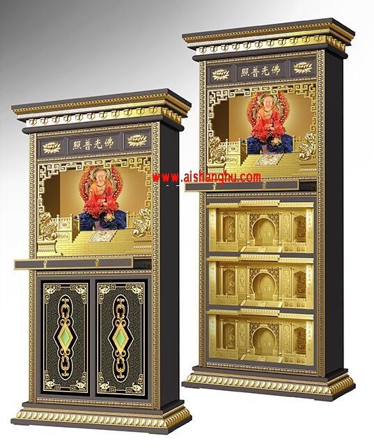 铝合金家族式骨灰架C型和D型系列设计效果图照片江西仙廷