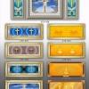 双穴骨灰盒存放架面板效果设计图XTS-001-036系列仙廷
