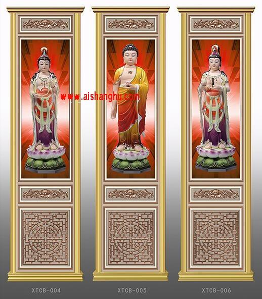 寺院佛堂骨灰存放架侧面板样式图XTCB-004-006仙廷