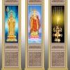 佛堂寺院骨灰盒存放架侧面板设计图XTCB-055-057系列