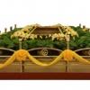殡仪馆、殡仪服务公司大型红木豪华告别台航泰牌