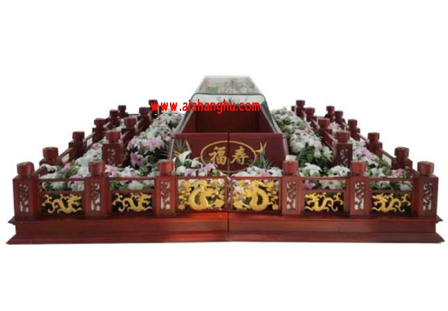 殡仪馆、殡仪服务公司小型红木豪华告别台航泰牌